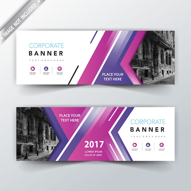 purple website banner design vector free download