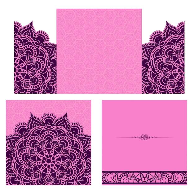 Purple Wedding Card Background Vector Premium Download