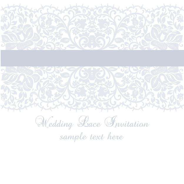 purple wedding lace invitation template vector free download