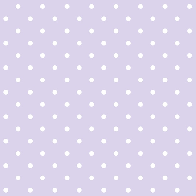 Purple and white seamless polka dot pattern vector Free Vector
