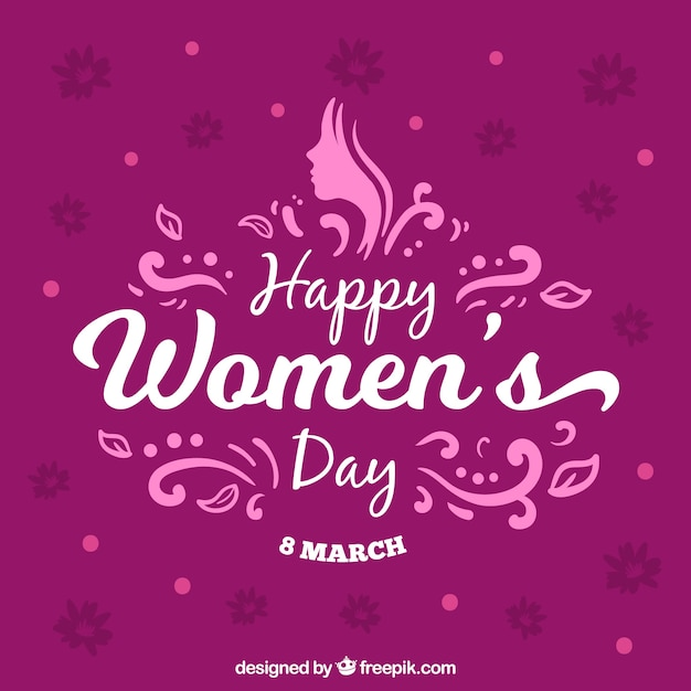 Purple womans day background Free Vector