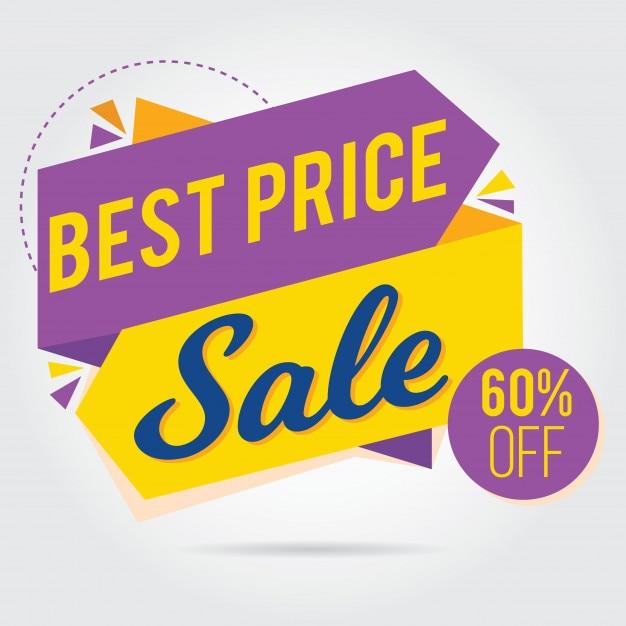 Purple, yellow, for banner or sticker sale Premium Vector
