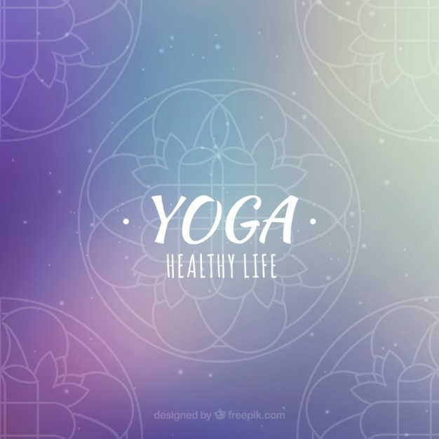 Free Vector Purple Yoga Background