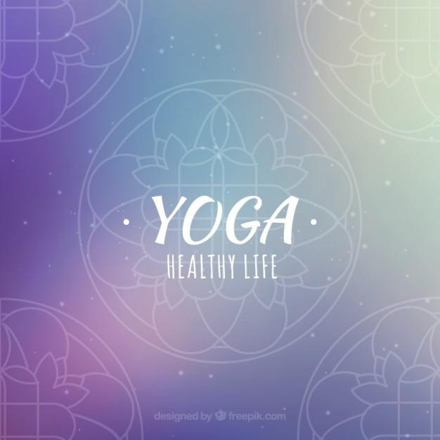 Purple Yoga Background
