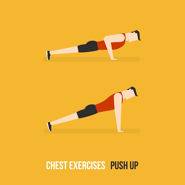 Push up demostration Free Vector