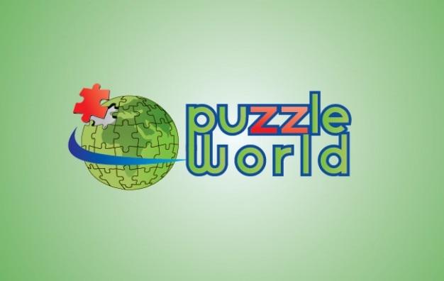 Puzzle globe Free Vector