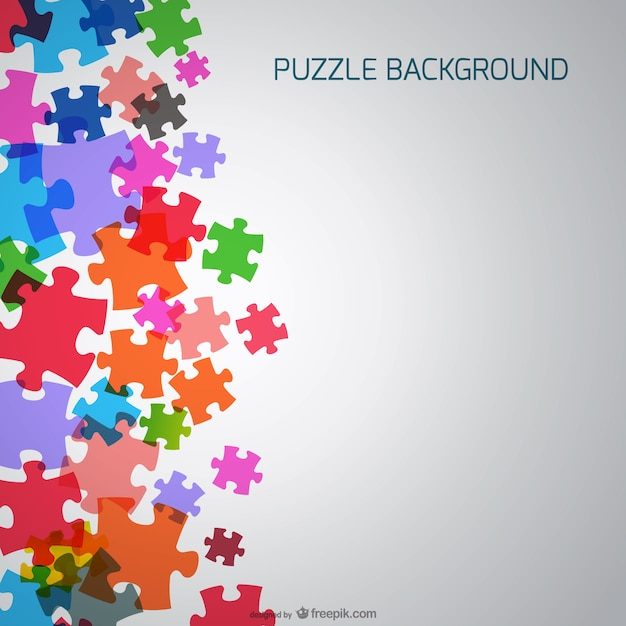 puzzle pieces background vector free download