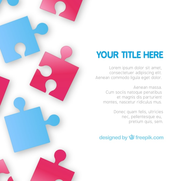 Puzzle Pieces Template Vector  Free Download