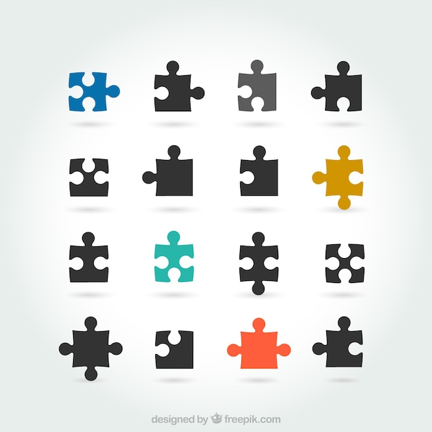 puzzle pieces vector free download