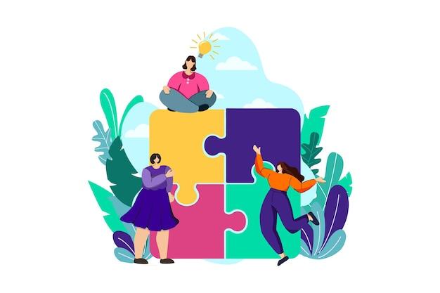Puzzle problem web illustration
