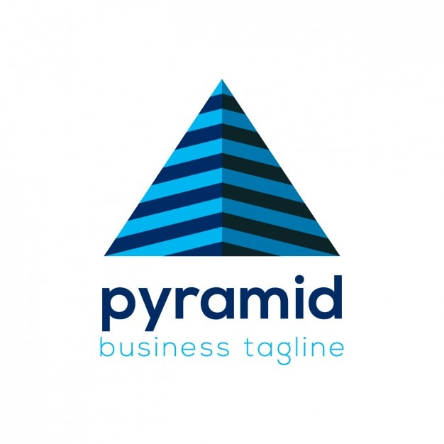 pyramid business logo template vector free download