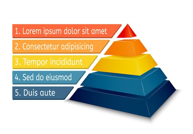 Pyramid chart for infographics Free Vector