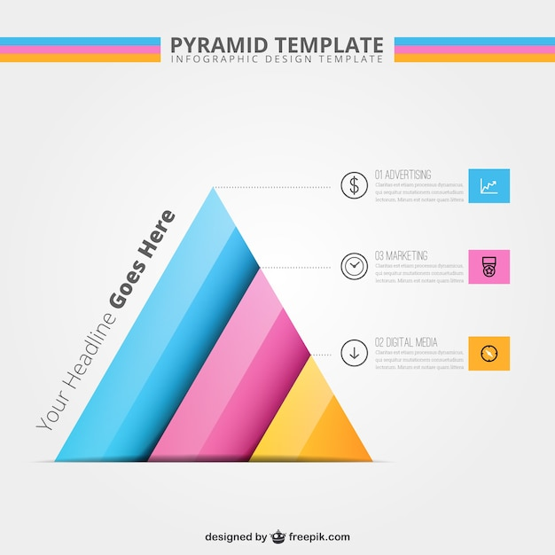 Pyramid Template Infographic Vector | Free Download