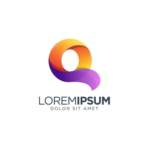 Буква q дизайн логотипа Premium векторы