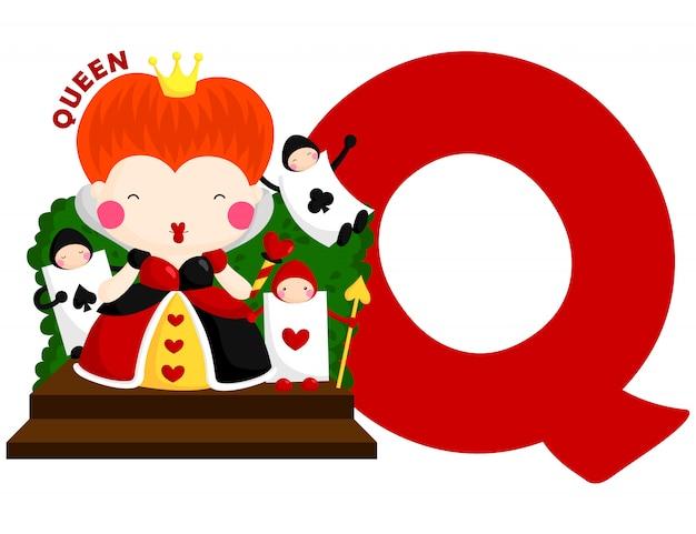 Q для королевы Premium векторы