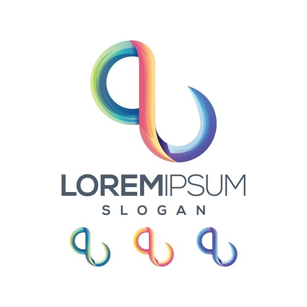 Буква q логотип градиент коллекции Premium векторы