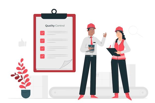 Qa engineers concept illustration Free Vector