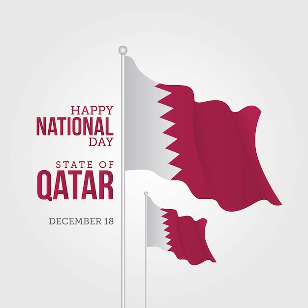 Qatar national day Vector | Premium Download