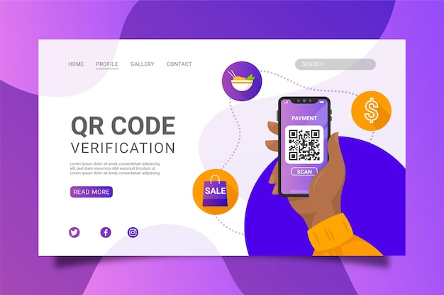 Qr code verification Free Vector