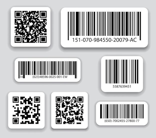 Бизнес штрих-коды и qr-коды векторный набор. Premium векторы