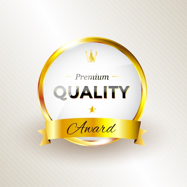 Quality award design Free Vector