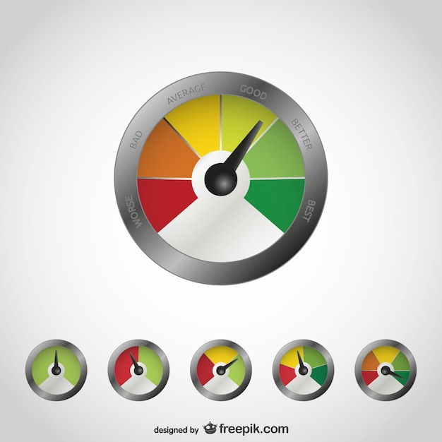 Quality measurement concept illustration Free Vector