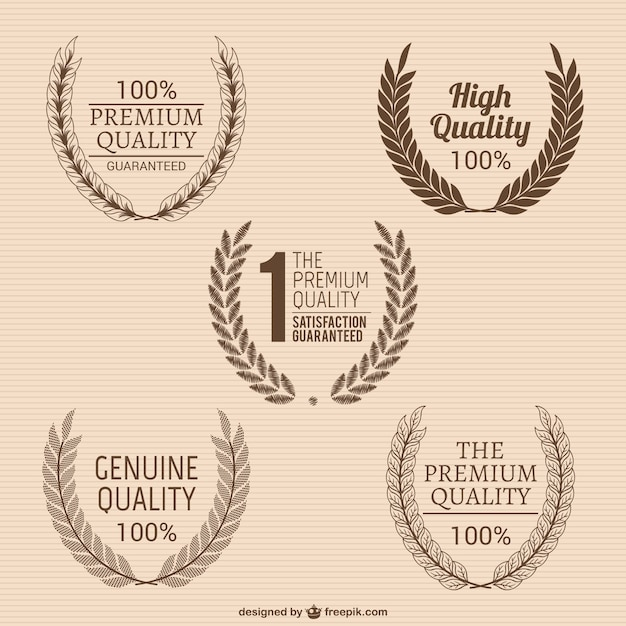 Quality wreaths pack Free Vector