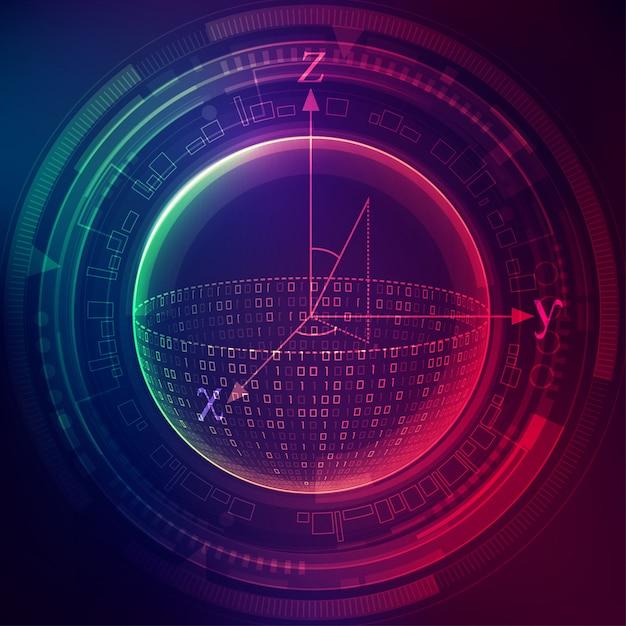 Quantum computing Premium Vector