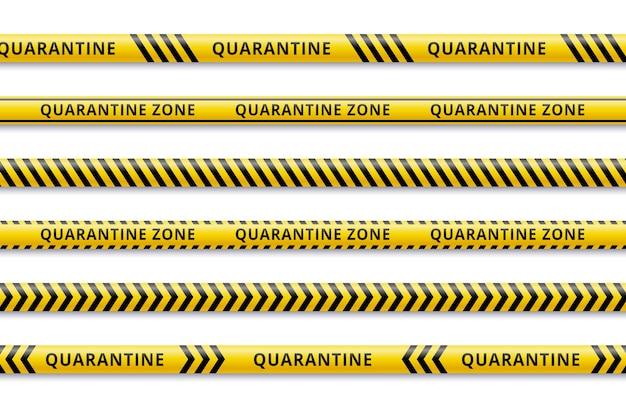 Quarantine and social control stripes Premium Vector