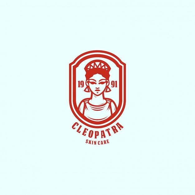 Queen logo template Premium Vector