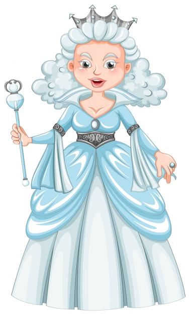 Королева с белыми волосами Бесплатные векторы