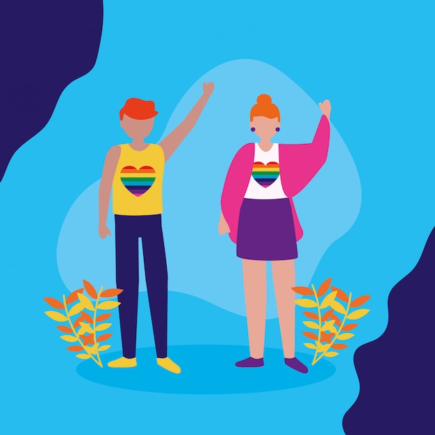 The queer community lgbtq design Free Vector