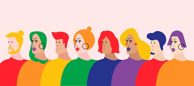 The queer community lgbtq vector illustration Free Vector