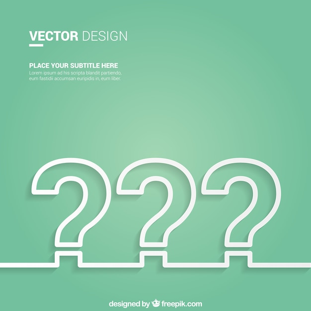 Question mark background Free Vector