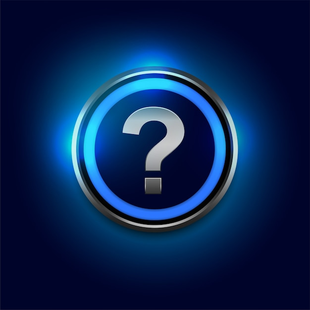 Question mark symbol with blue lights background Free Vector
