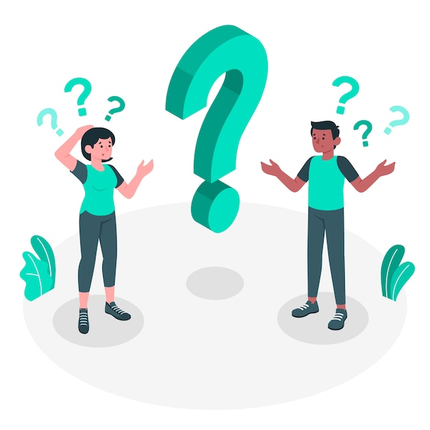 Questions concept illustration Free Vector