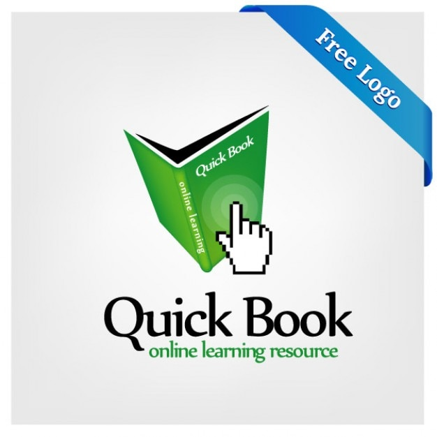 Quick book online learning logo Vector | Free Download