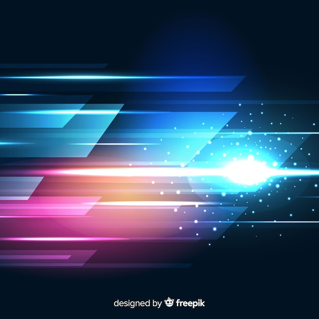Quick light ray moving background Free Vector