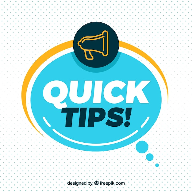Quick tip composition with flat design Free Vector