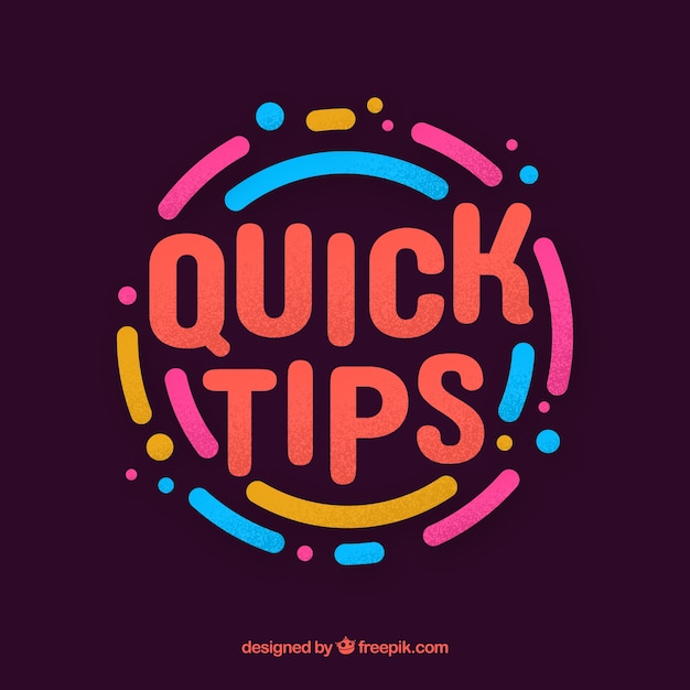 Quick tip concept with flat design Free Vector