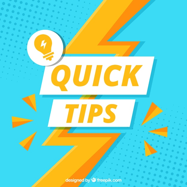 Quick tips composition with flat design Free Vector