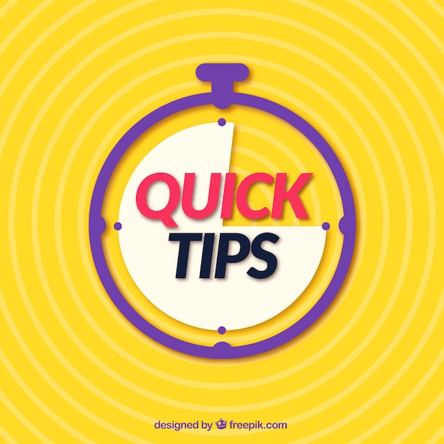 Quick tips concept with flat design Free Vector
