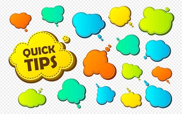 Quick tips Premium Vector