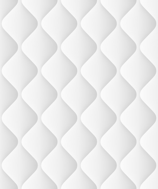 Quilted seamless pattern with waves. decorative background light soft texture. and also includes Premium Vector