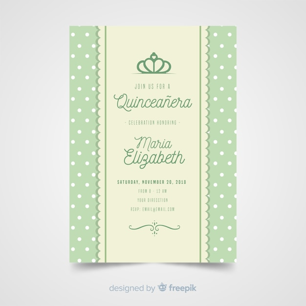 Quinceanera bar invitation template Free Vector