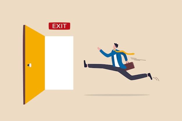 日常業務をやめ、ビジネスの行き詰まりを成功させるための脱出方法または解決策 Premiumベクター