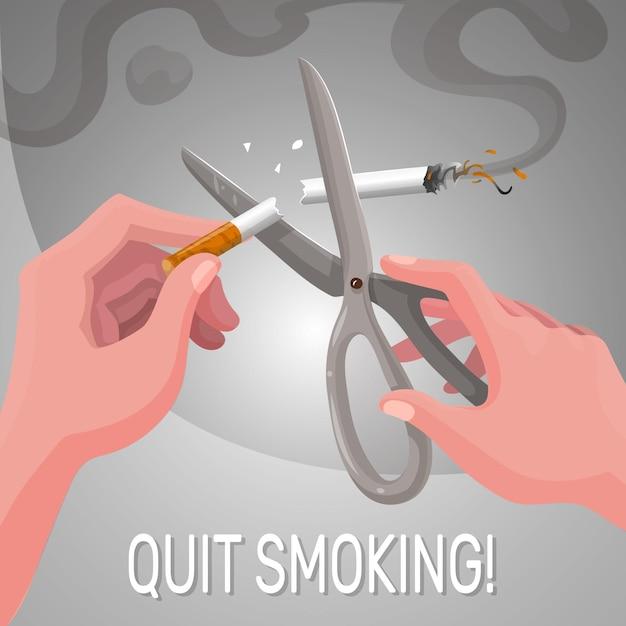Smettere di fumare illustrazione Vettore gratuito