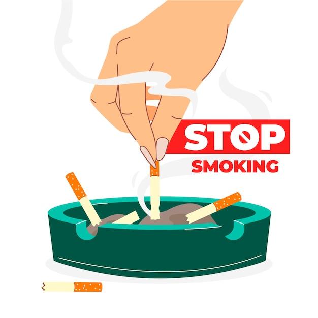 喫煙イラストをやめる 無料ベクター