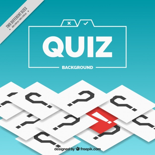 Quiz background with question marks and red detail Free Vector