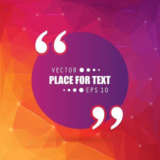 Quote, empty speech bubble, banner. Premium Vector